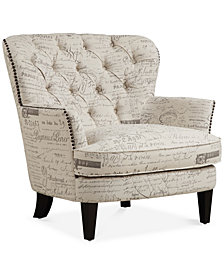 Royden Upholstered Armchair, Quick Ship