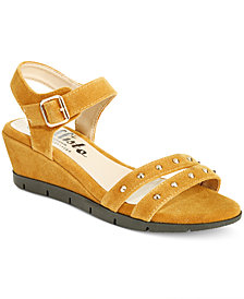 Callisto Plush Wedge Sandals