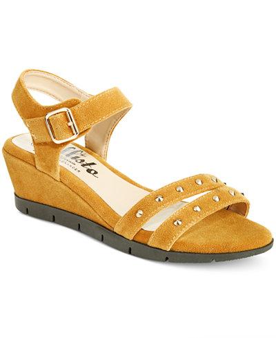 Callisto Plush Wedge Sandals