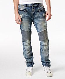 Reason Men's Causeway Slim-Fit Moto Jeans
