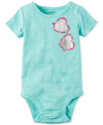 Carter's Dot-Print Sunglasses Bodysuit, Baby Girls (0-24 months)