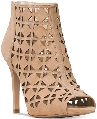 MICHAEL Michael Kors Ivy Open-Toe Booties