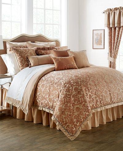 Waterford Reversible Margot Persimmon Queen 4-Pc. Comforter Set