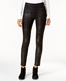 Calvin Klein Textured Coated Leggings