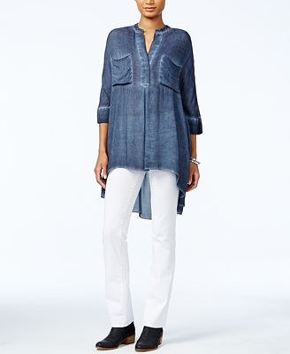 Tommy Hilfiger High-Low Tunic & Straight-Leg Jeans, Only at Macy's
