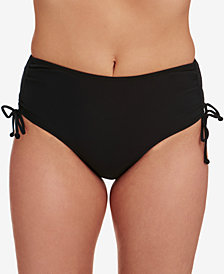 Swim Solutions Adjustable Ruched Brief Bottoms, Created for Macy's