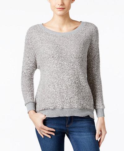 calvin klein jeans textured metallic sweater sweaters. Black Bedroom Furniture Sets. Home Design Ideas