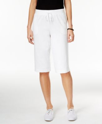 Image of Karen Scott Pull-On Active Bermuda Shorts, Created for Macy's