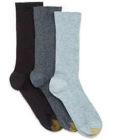 Gold Toe Women's 3-Pk. Non-Binding Short Crew Socks