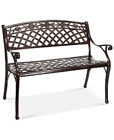 Hylton Cast Aluminum Bench, Quick Ship