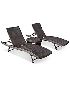 Aldin Wicker Chaise Lounge Set, Quick Ship