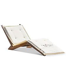 Sheerin Wood Folding Lounger, Quick Ship