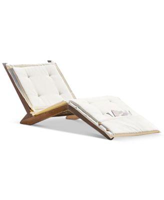 sheerin wood folding lounger quick ship