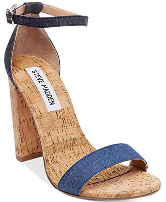 Steve Madden Women S Carrson Two Piece Cork Block Heel