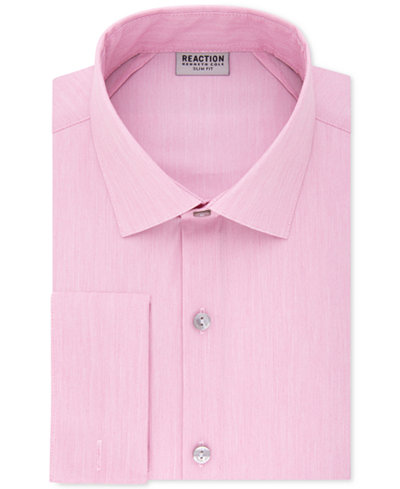 Kenneth cole reaction men 39 s slim fit techni cole stretch for French cuff slim fit dress shirt