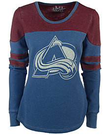 G-III Sports Women's Colorado Avalanche Hat Trick Thermal Long-Sleeve T-Shirt