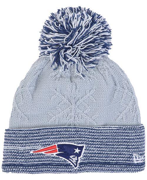 3556c4dc1e136 ... Hat  New Era Women s New England Patriots Snow Crown Redux Knit ...
