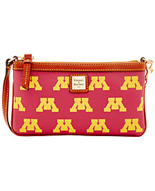 Dooney & Bourke Minnesota Golden Gophers Large Slim Wristlet