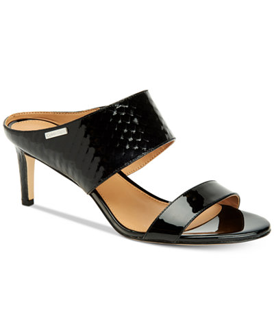 Calvin Klein Women's Cecily Wide-Strap Sandals, Created For Macy's
