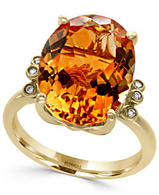 EFFY® Citrine (8 ct. t.w.) and Diamond Accent Ring in 14k Gold