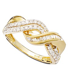14k Gold Ring, Diamond Swirl Twist (1/2 ct. t.w.)