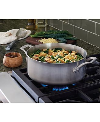Calphalon Signature Stainless Steel 5 Qt Dutch Oven With Cover Cookware Cookware Sets Kitchen Macys