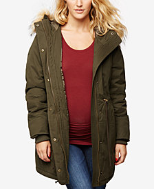 A Pea In The Pod Maternity Snap-Front Coat