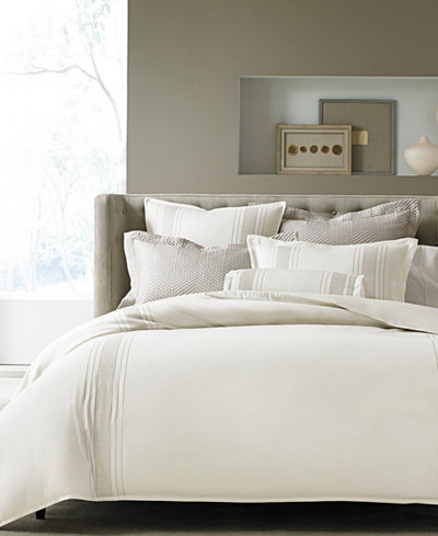 CLOSEOUT! Hotel Collection European Linens Woven Accent Bedding Collection, Created for Macy's