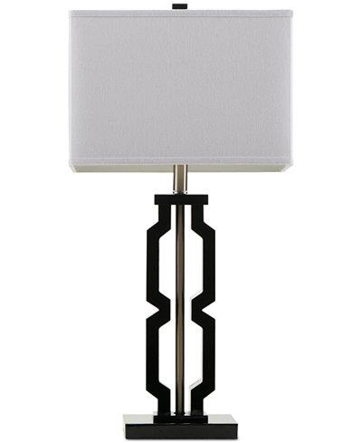 CLOSEOUT! Madison Park Signature Moderne Black Table Lamp