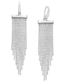 Multi-Strand Beaded Chandelier Earrings in Sterling Silver