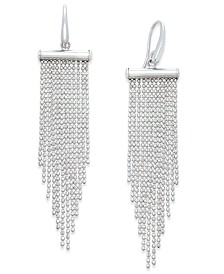Multi-Strand Beaded Chandelier Earrings in Sterling Silver