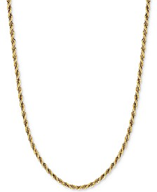 Two-Tone Twisted Box-Link Rope Chain Necklace (2-1/3mm) in 14k Gold and White Gold