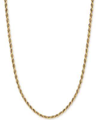 twotone twisted boxlink rope chain necklace in 14k gold and white gold