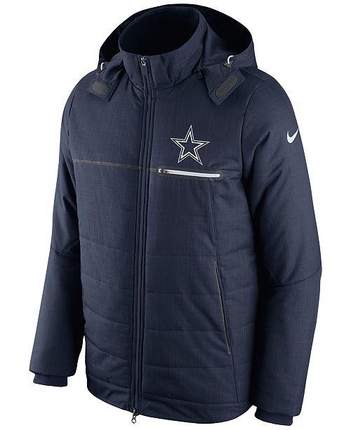Nike Men s Dallas Cowboys Sideline Jacket - Sports Fan Shop By Lids ... 3c01ccf8b