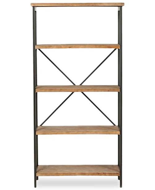 Noble House Jerome 5-Shelf Industrial Bookcase, Quick Ship