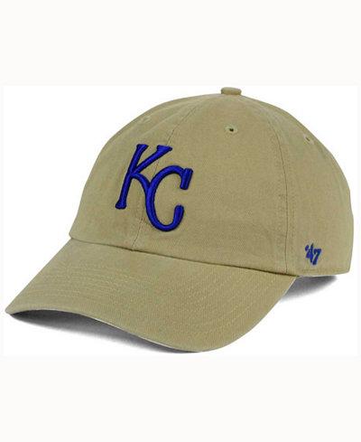 '47 Brand Kansas City Royals Khaki Clean UP Cap