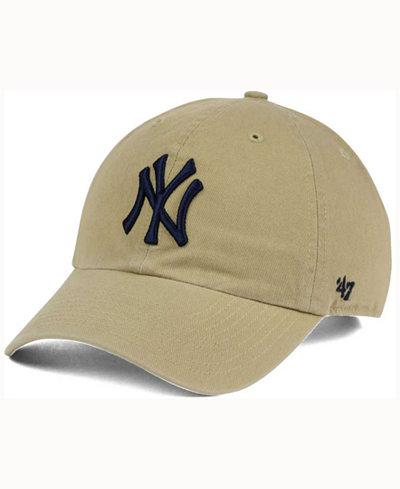 '47 Brand New York Yankees Khaki Clean UP Cap