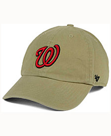 '47 Brand Washington Nationals Khaki Clean UP Cap