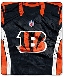 Northwest Company Cincinnati Bengals Jersey Plush Raschel Throw