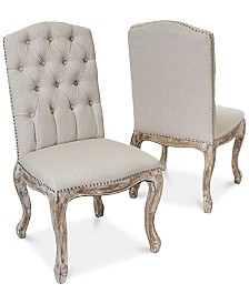 Palen Tufted Hardwood Dining Chairs, Quick Ship (Set of 2)