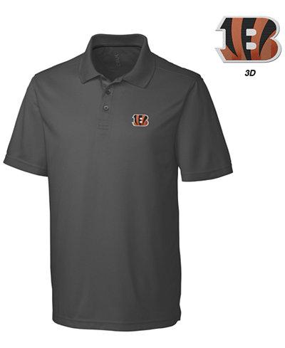 Cutter & Buck Men's Cincinnati Bengals 3D Emblem Fairwood Polo Shirt