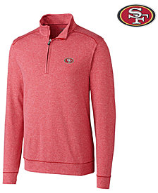 Cutter & Buck Men's San Francisco 49ers Shoreline Quarter-Zip Pullover