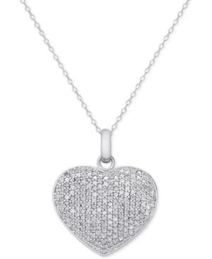 Diamond Pave Heart Locket...