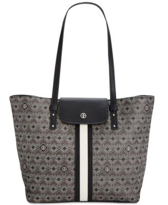 Image of Giani Bernini Graphic Signature Tote, Only at Macy's