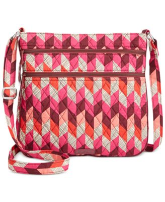 Image of Vera Bradley Triple-Zip Hipster Crossbody