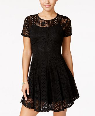 American Rag Juniors Lace Fit Amp Flare Dress Created For