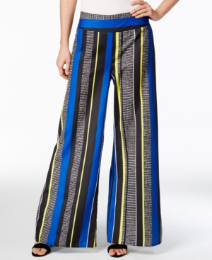 1930s Women's Pants and Beach Pajamas Bar Iii Striped Wide-Leg Pants Only at Macys $26.99 AT vintagedancer.com