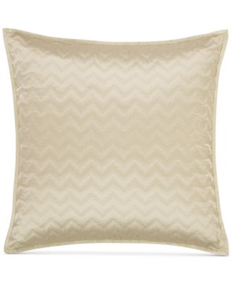 hotel collection distressed chevron quilted european sham created for macyu0027s