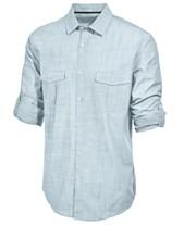 bd82f44cf659c Blue Mens Casual Button Down Shirts   Sports Shirts - Macy s