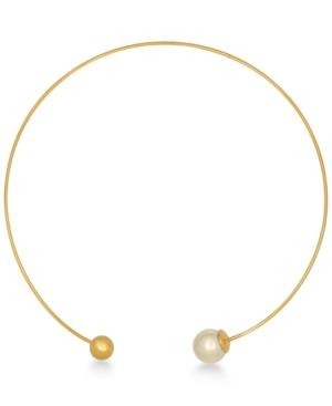 Majorica Gold-Plated Titanium Imitation Pearl and Bead